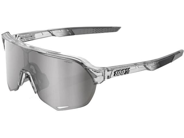 100% S2 Hiper Mirror Glasses Translucent Grey